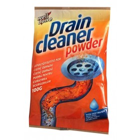 Well Done Drain cleaner powder čistič odpadů na horkou vodu 100 g