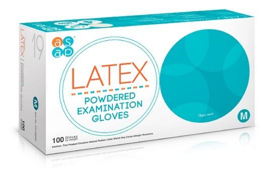 7f693f1c8a0 Jednorázové latexové rukavice ASAP pudrované vel. M box 100 ks ...