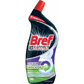 BREF 10× Effect Power Gel Protection Shield Lavender, tekutý WC čistič kompletní ochrana, 700 ml