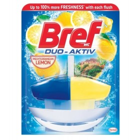 BREF Duo Aktiv Lemon tekutý WC blok 50 ml komplet