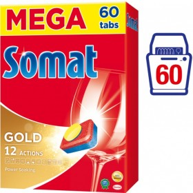 SOMAT Gold tablety do myčky MEGA pack 60 ks