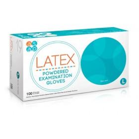 Jednorázové latexové rukavice ASAP pudrované vel. L box 100 ks 8c19bd2573
