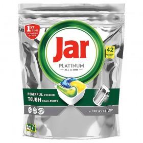 Jar Platinum All in One Yellow Lemon kapsle do myčky nádobí 42 kusů